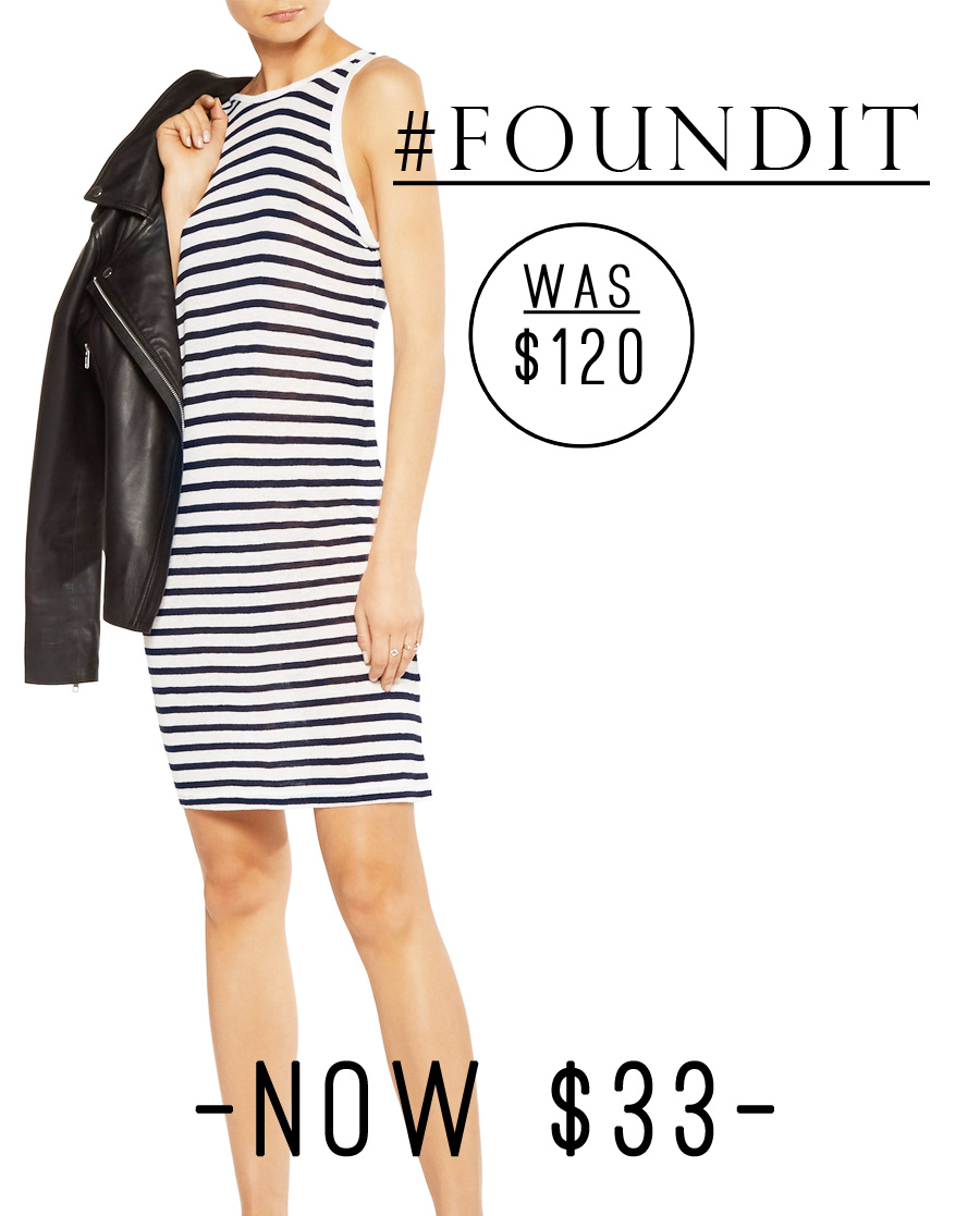Such a good deal! This T By Alexander Wang Striped Jersey Dress is $33. #minimalist #style