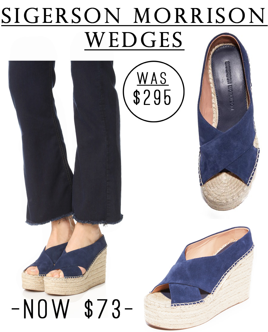 SO CUTE! These Sigerson Morrison wedges were originally $295, now they are just $73! #shop #sale