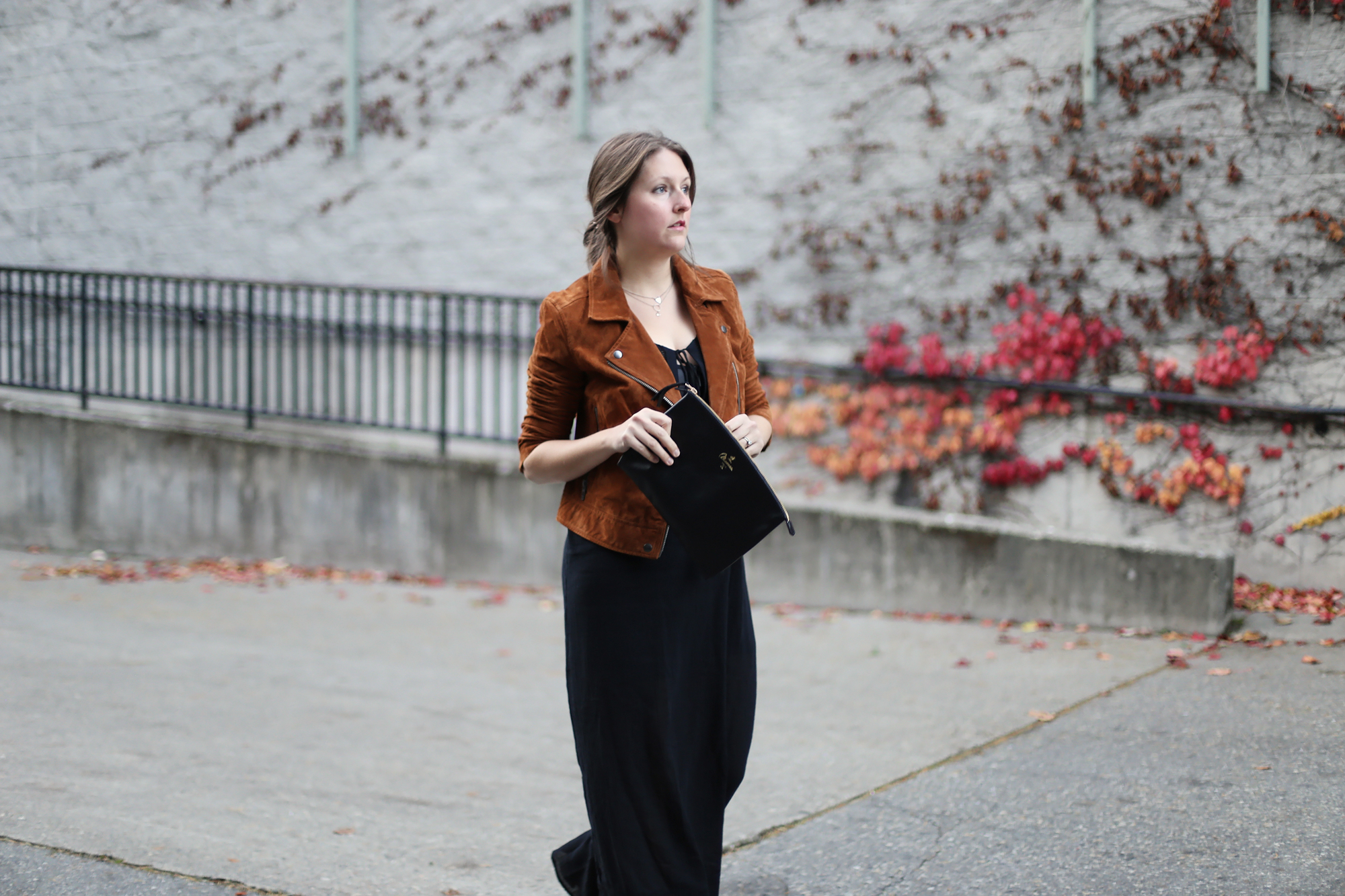 Budget Style Tip: How to wear a maxi dress in the fall.