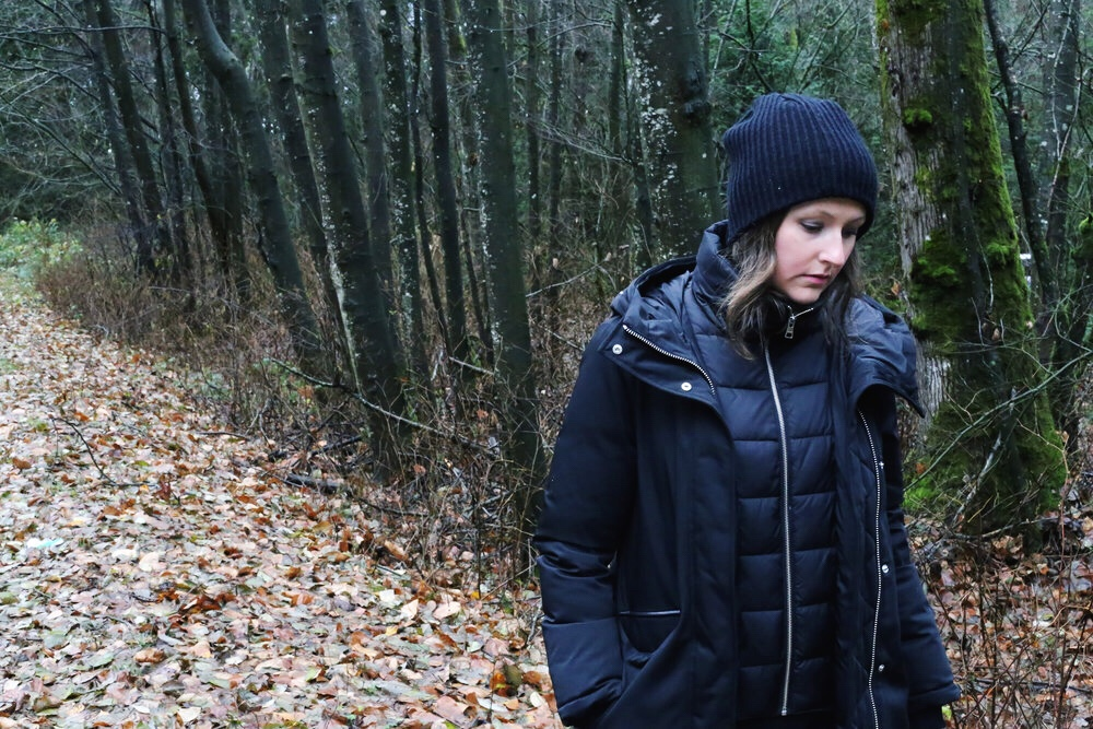 How to style a winter parka.