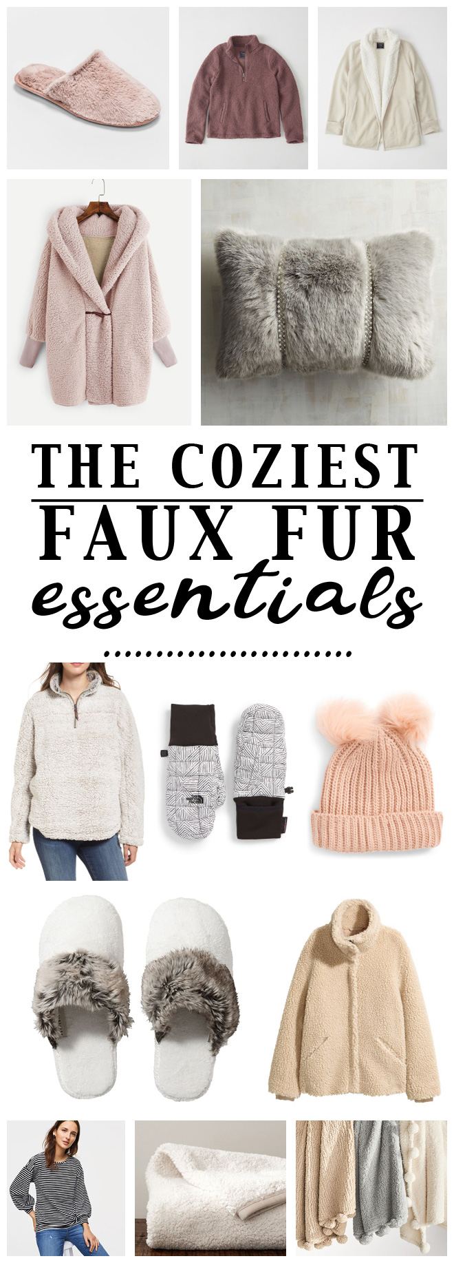 I need all of this cozy fashion! Super cute sherpa, teddy bear fur, and pom pom clothing.