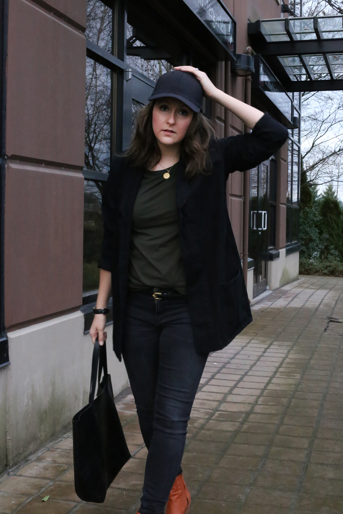 How to style a baseball cap with long hair and still look cute.