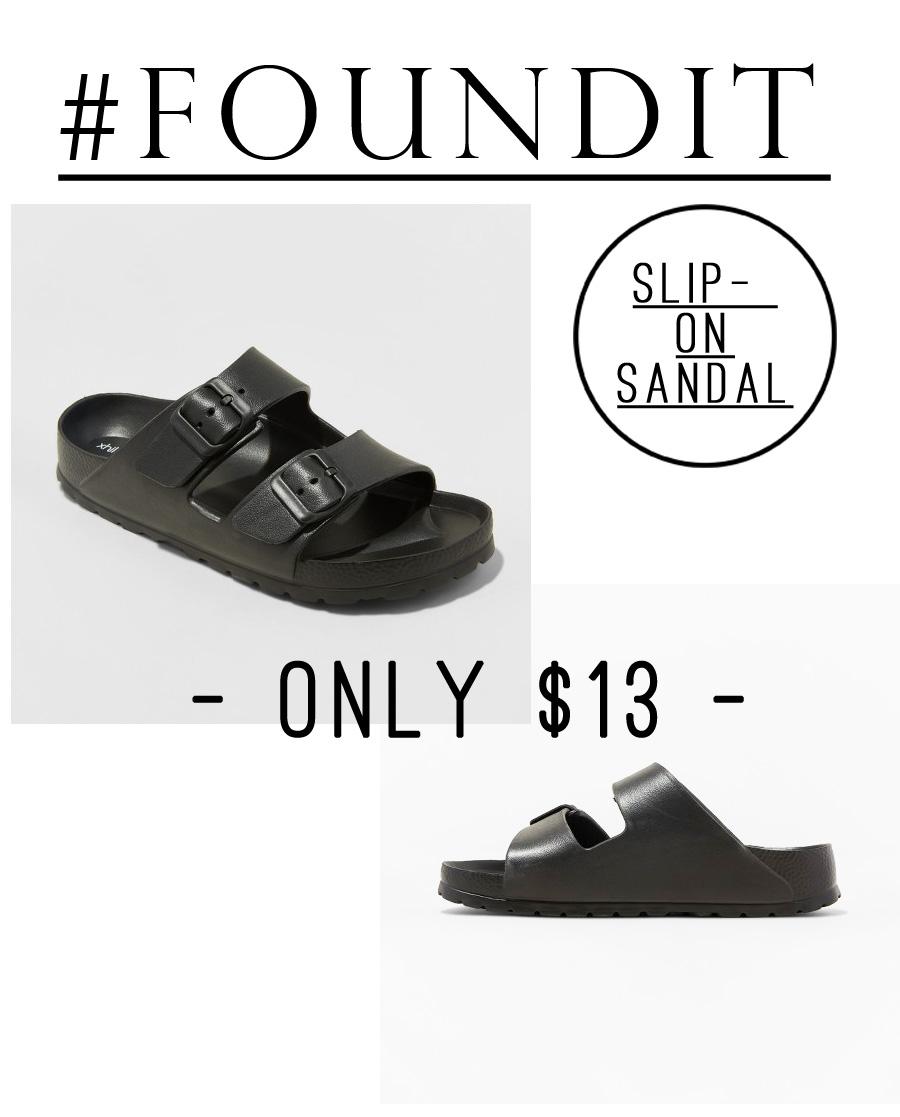 These sandals look just like black Birkenstocks, but are just $13! #minimalist