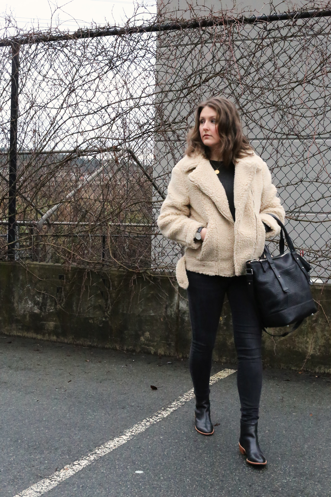 This shearling jacket is pure perfection! And it's only $70.