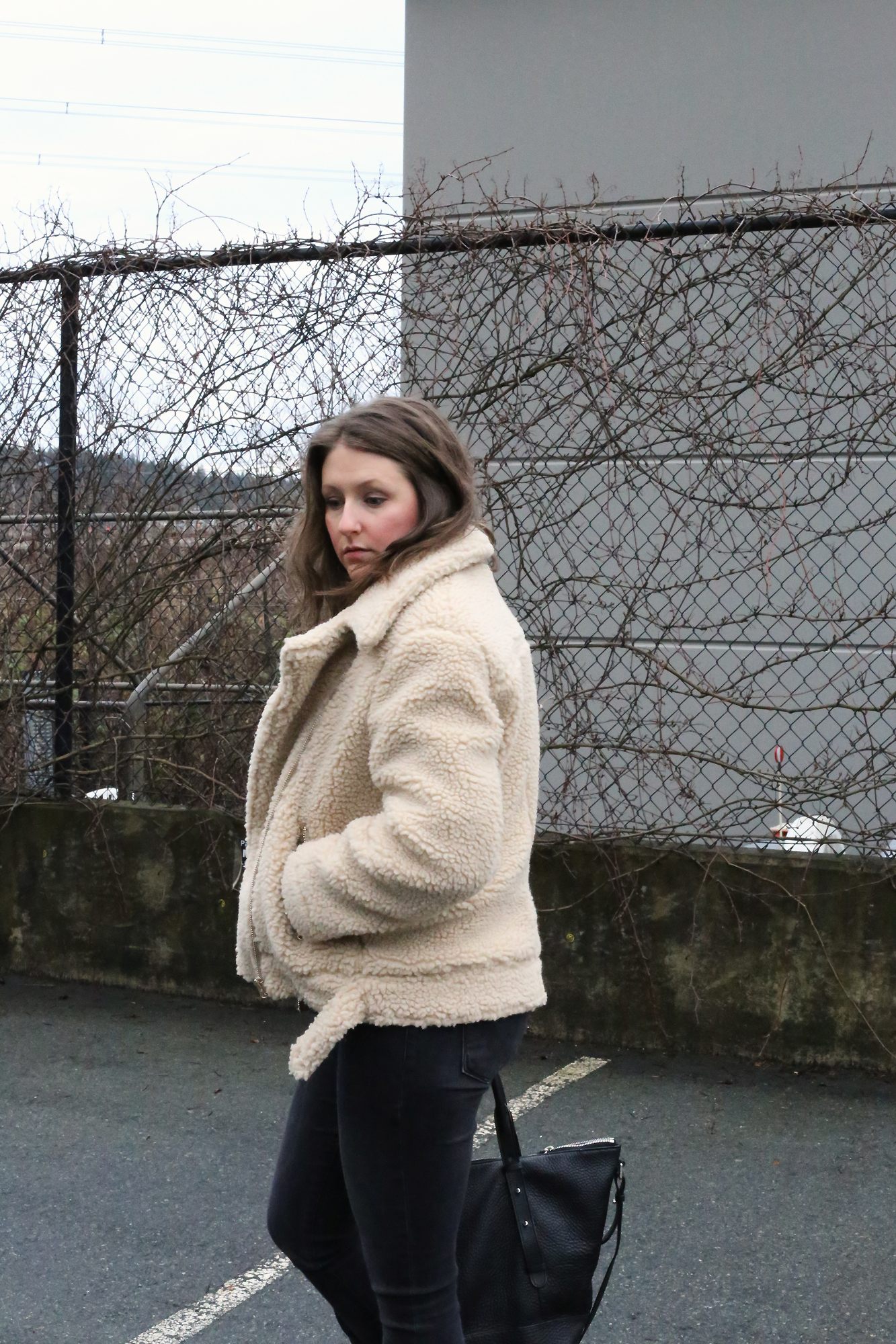 I love shearling! This shearling biker jacket is SO chic and luxurious (without the expesive price tag).