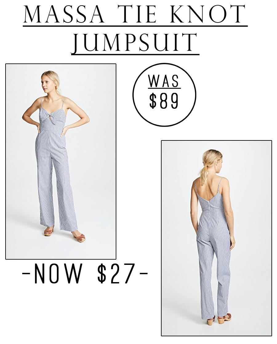 This Massa Tie Knot Jumpsuit is just $27!