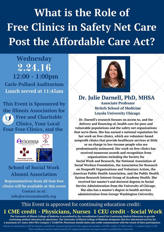 """Dr. Julie Darnell on """"What is the Role of Free Clinics in Safety Net Care Post the ACA"""" 2015"""