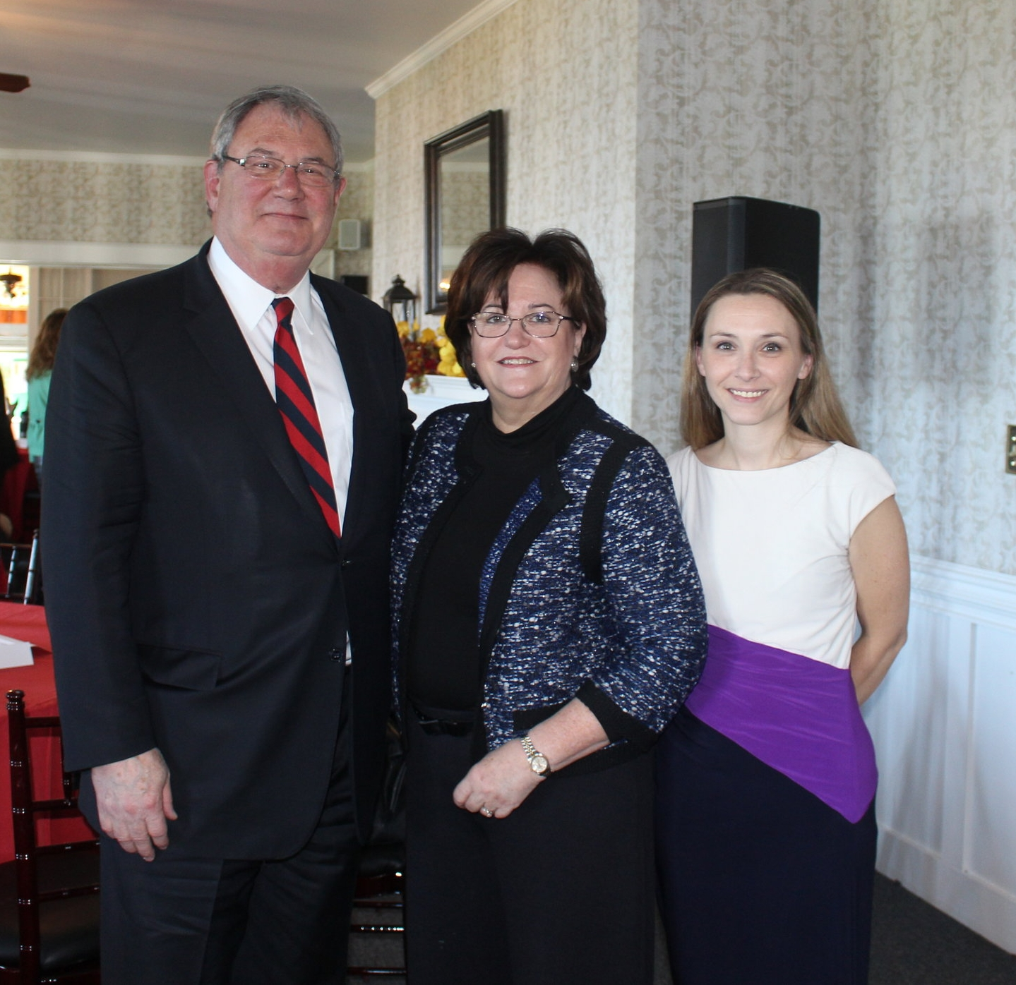 From the left: Dr. John Ettling, President, SUNY Plattsburgh and Thrive Leadership Chair,New York State Education Department Commissioner MaryEllen Elia, and North Country Thrive Director, Brittany Trybendis at North Country Thrive Leadership Council Meeting October 14, 2016 at Valcour Inn and Boathouse.