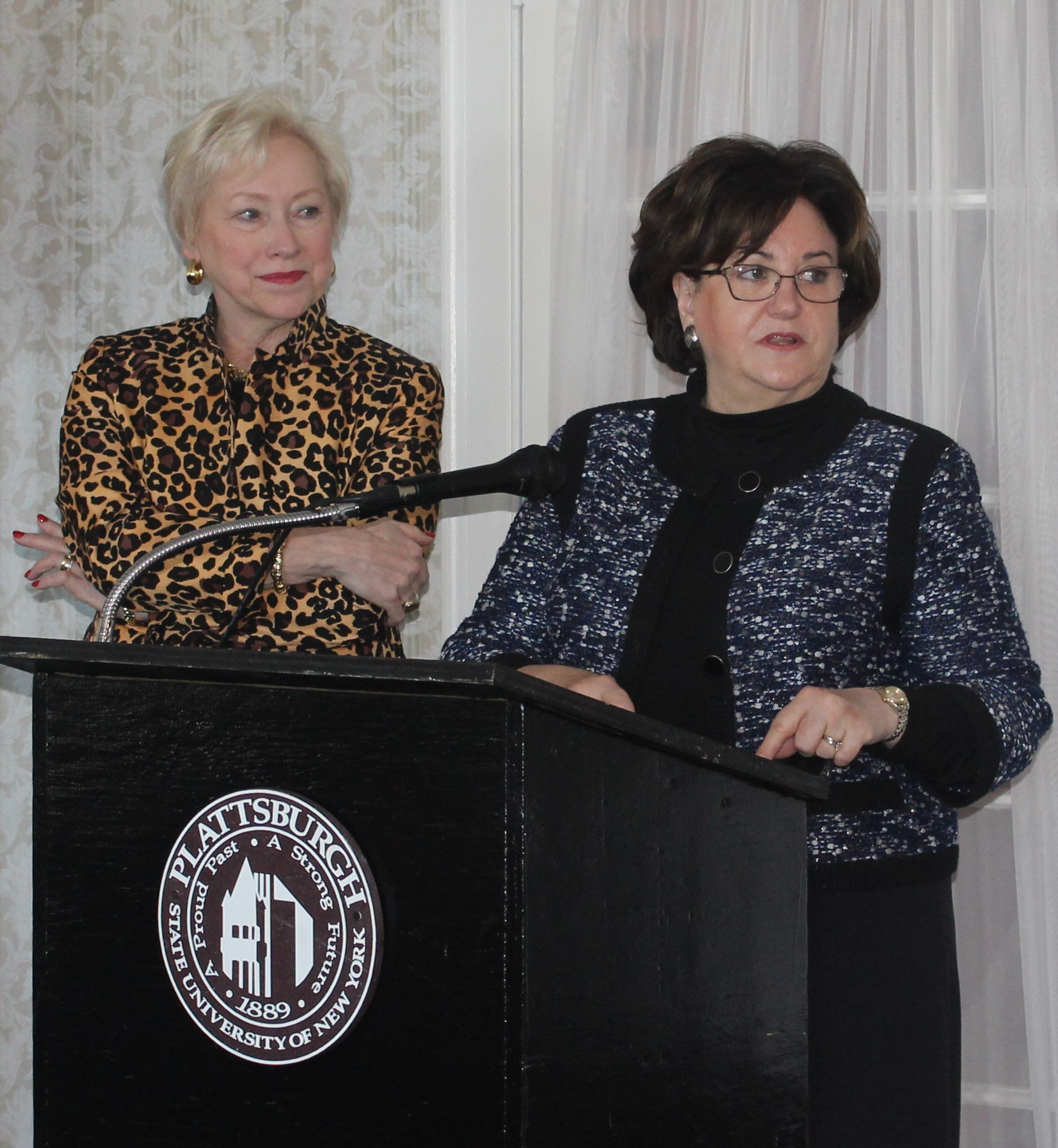 """SUNY Chancellor Nancy Zimpher and New York State Education Department Commissioner MaryEllen Elia speaking to North Country Thrive Leadership Council Members at their October 14th meeting at Valcour Inn and Boathouse. """"All we need is a small, dedicated team that will keep the leadership council together, that will drive the data, that will give opportunity to everyone to intervene, to move the dial and seal the leaks,"""" Zimpher stated.  READ the FULL ARTICLE HERE"""