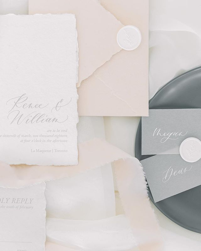 We all know it takes a village to pull of a wedding, but even a simple invitation suite is crafted by more than just myself. I work with skilled printers and artisans like @artfullmessages who crafted these papers so beautifully by hand. I am so glad to have such a strong village in my corner! . Photo by @cloud9photo and tap for the full list of amazing vendors!