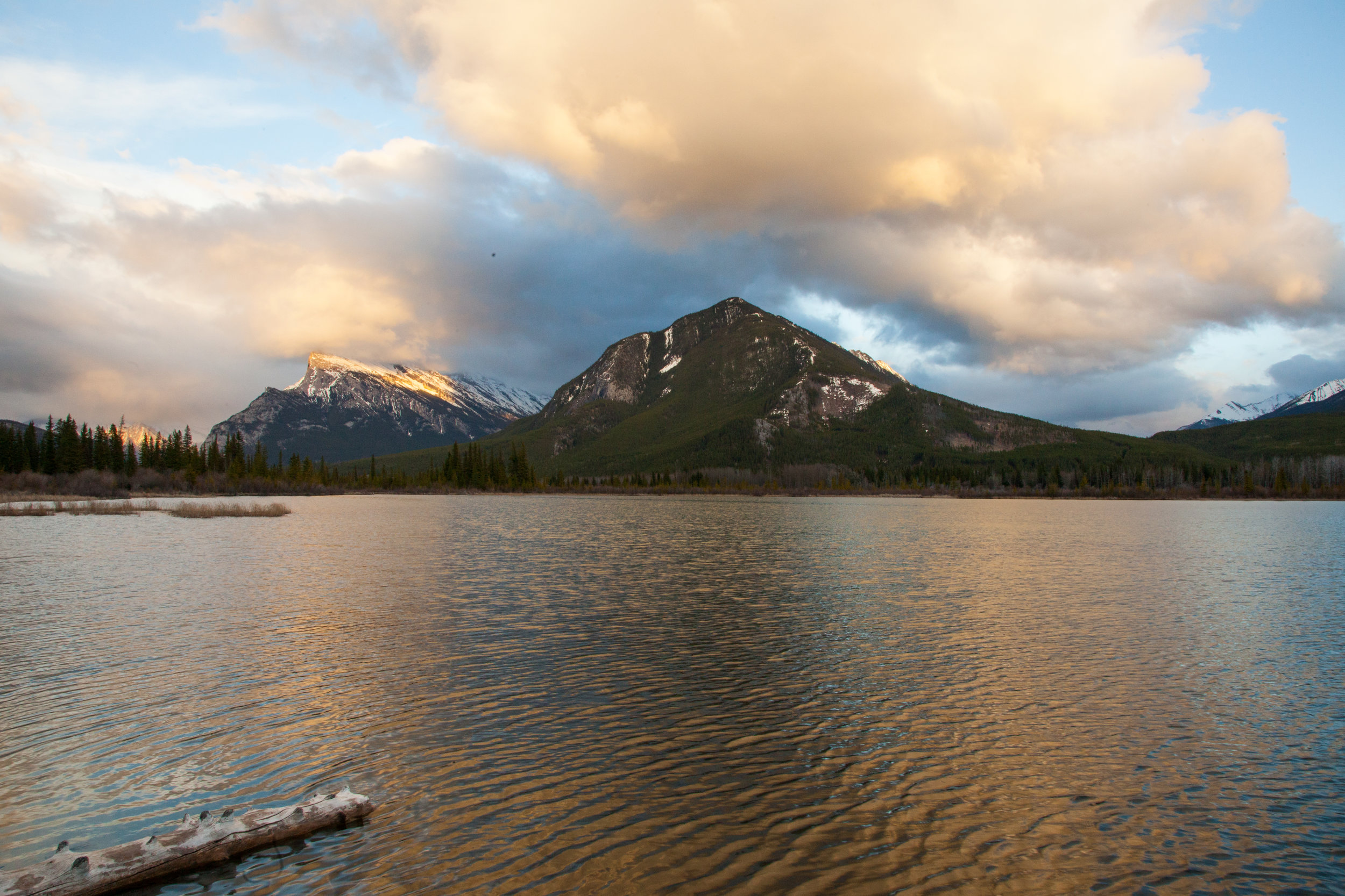 Dramatic clouds over Vermillion Lakes