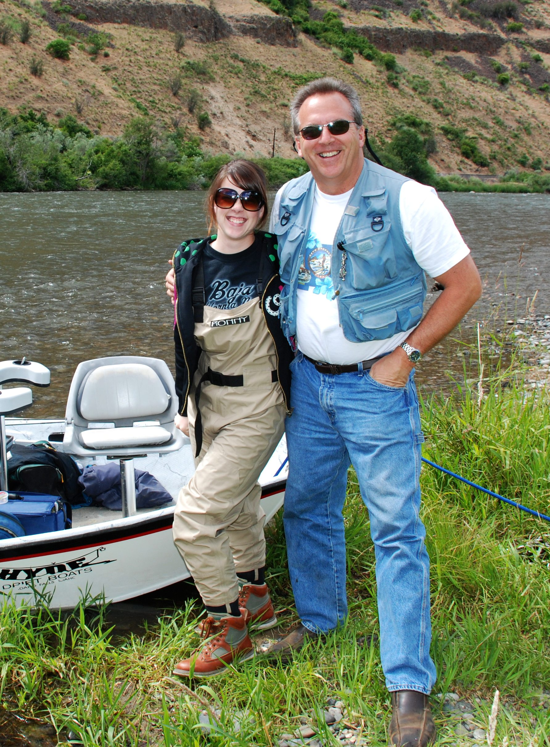 My dad and I on the Yakima River.Photo by my Uncle Scott Butner