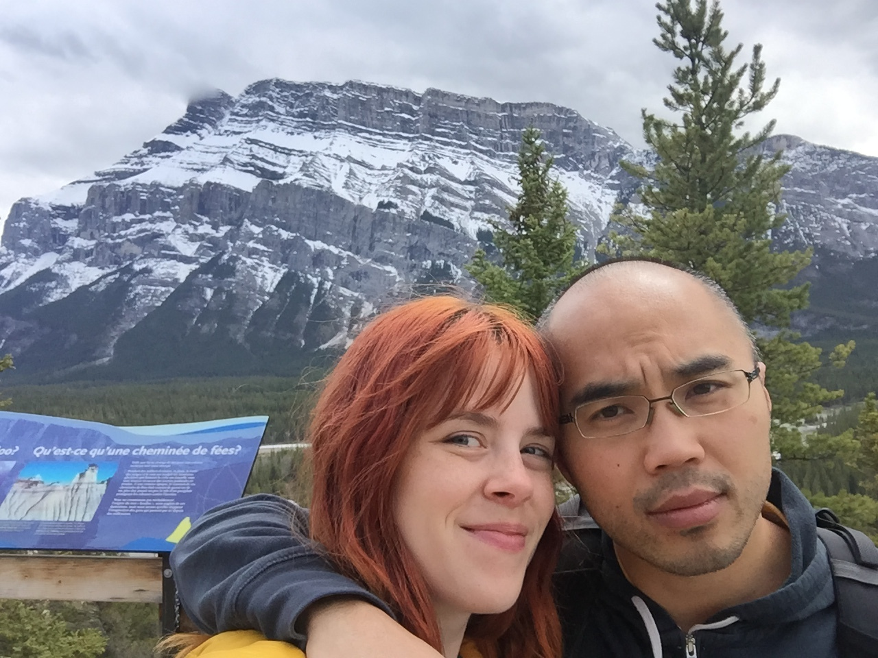 That one time he took me to Banff, still no smile.