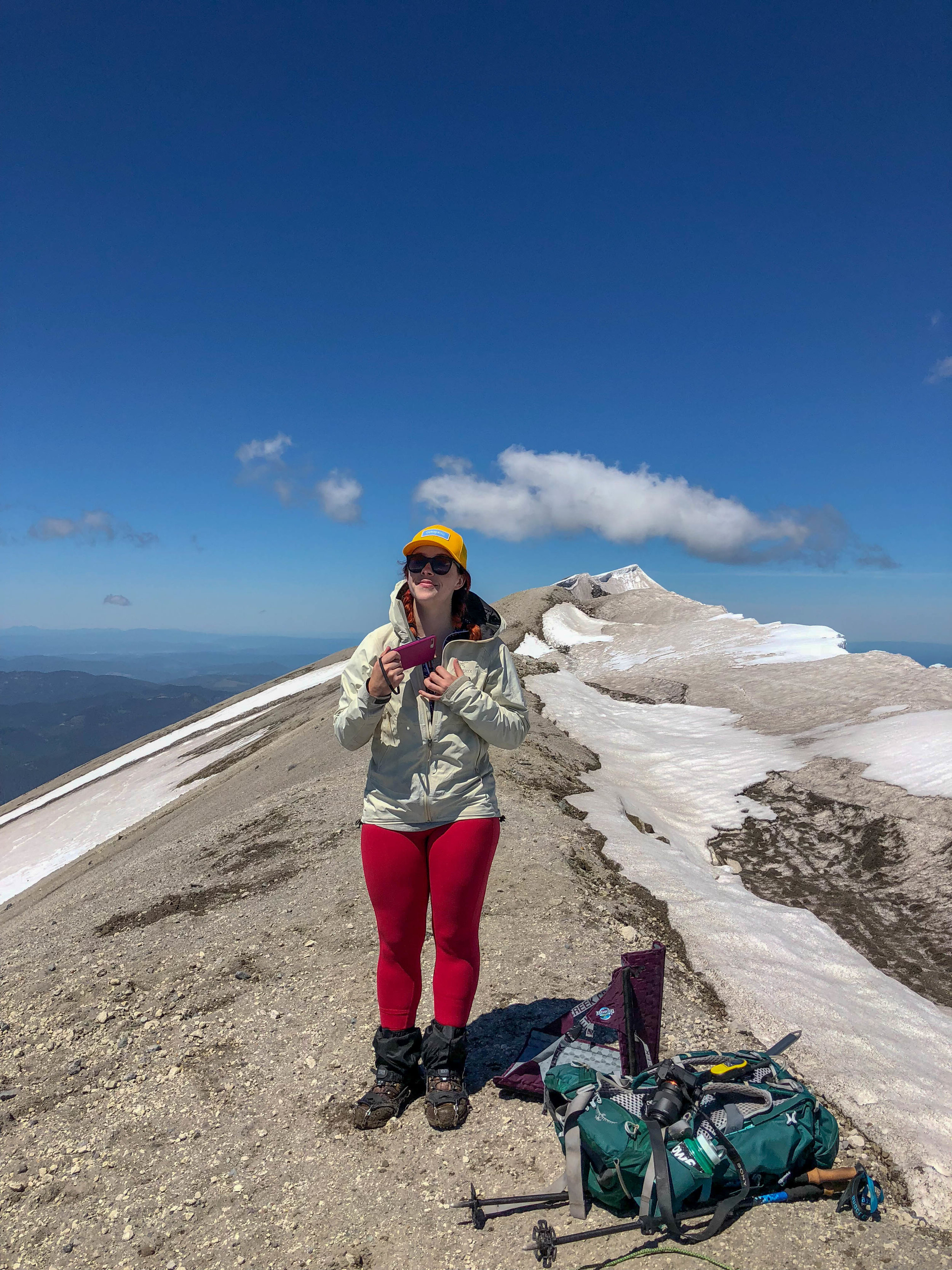 Me on the summit, see the cornice on the right side of the photo? DON'T STAND ON THAT.