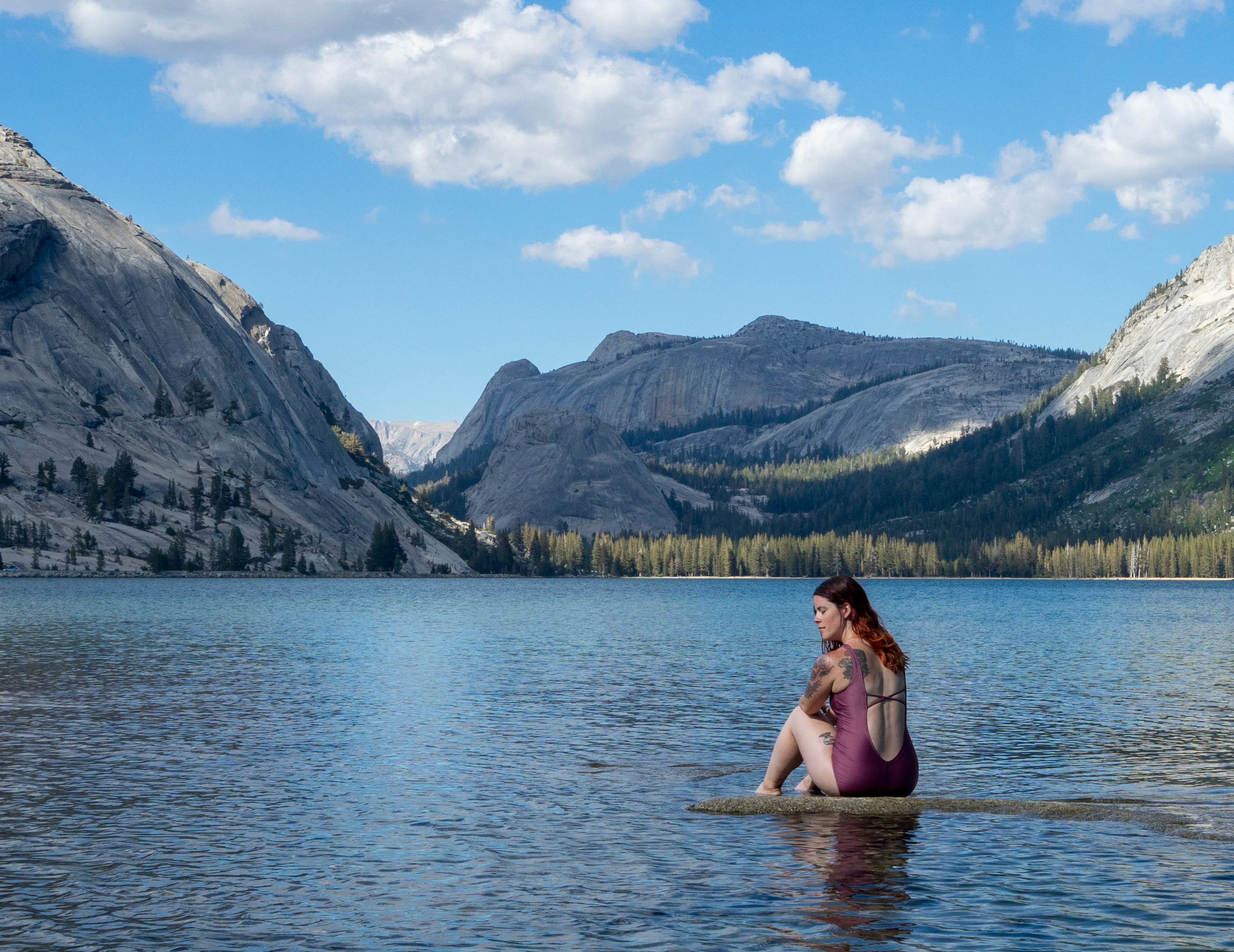 The perfect mermaid rock in the middle of Tenaya Lake!