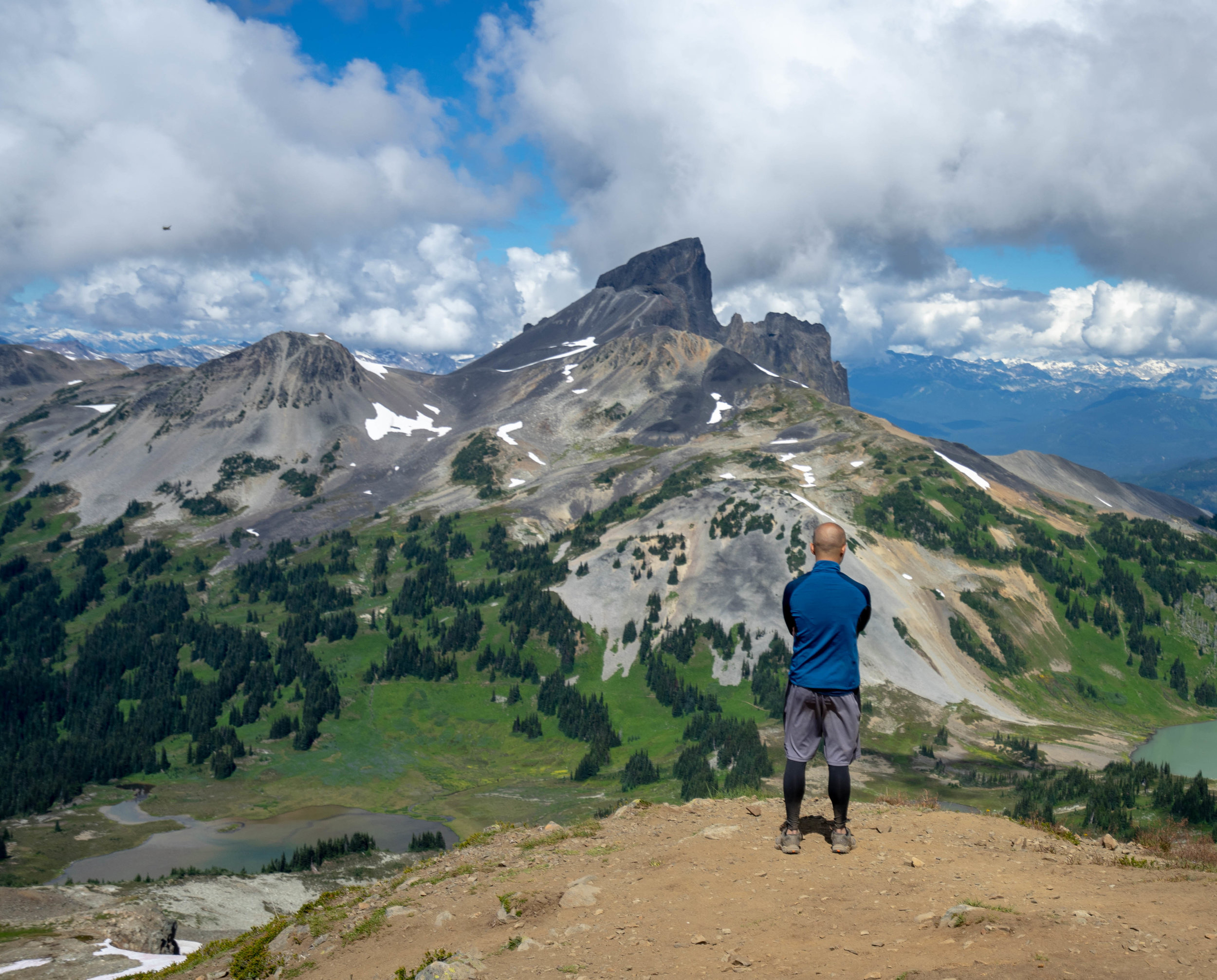 Brian looking out at Black Tusk in the distance.