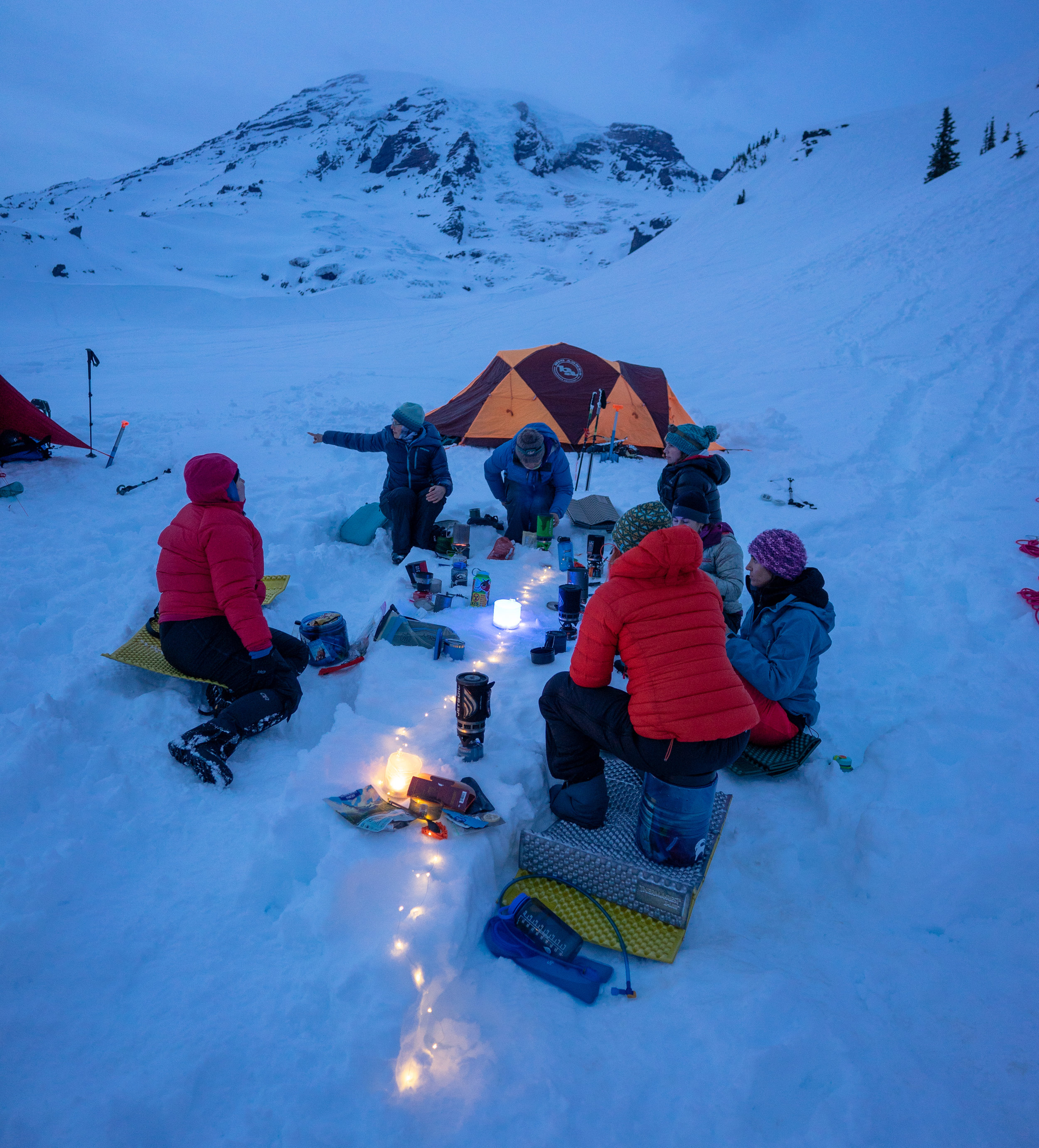 Photo from our mountaineering on-snow weekend.