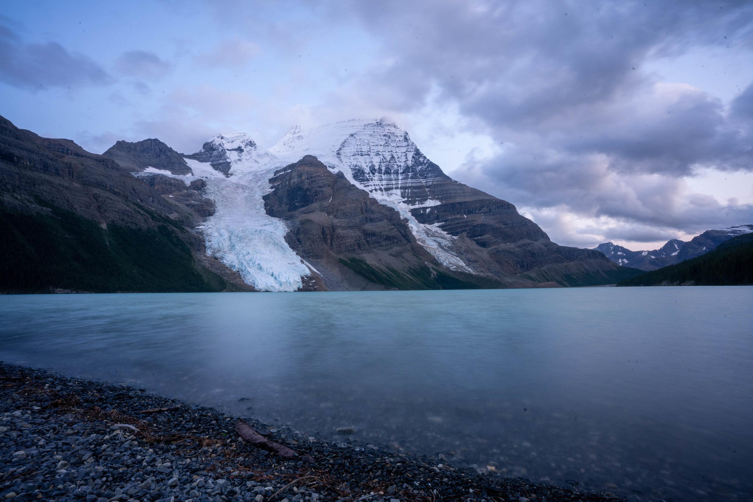 Berg Lake at Dusk.