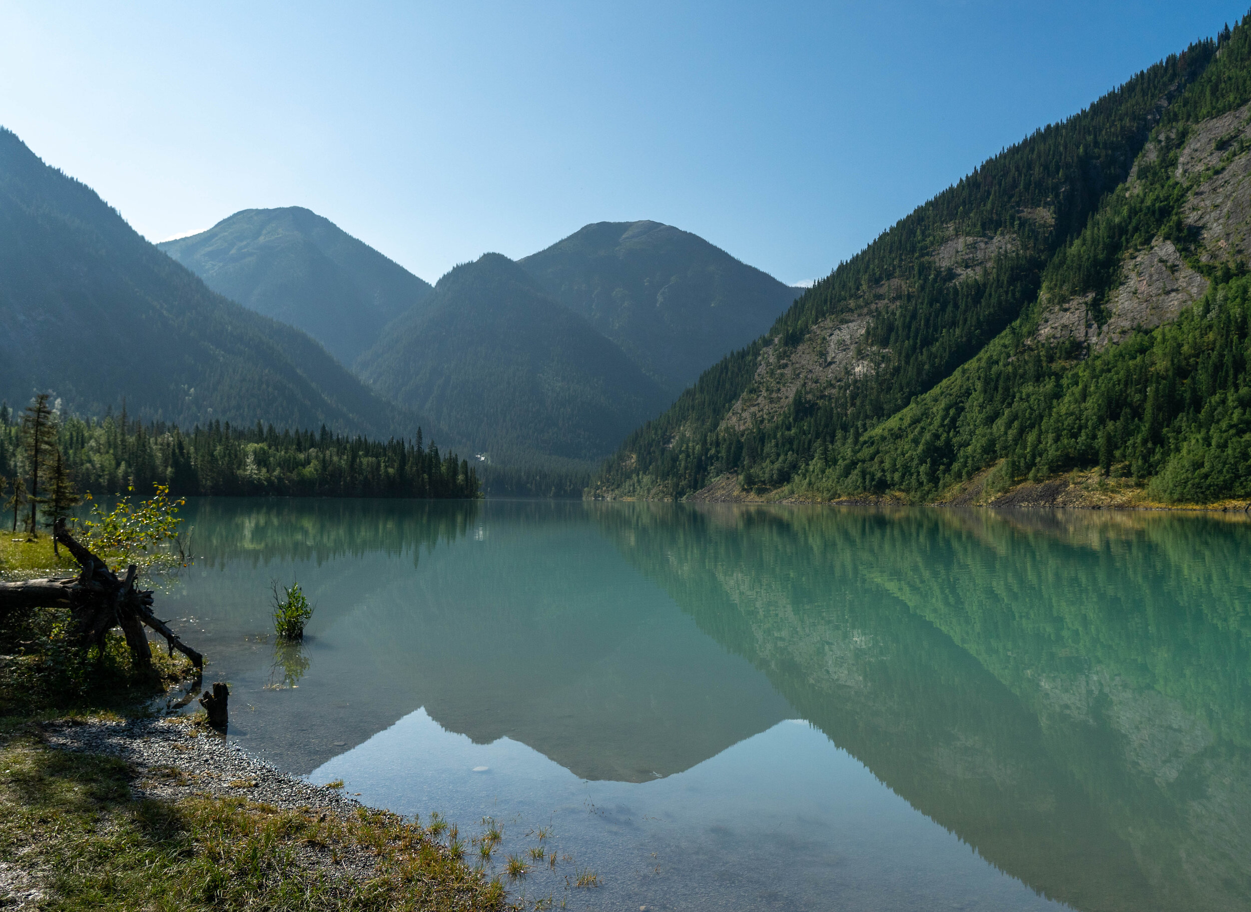 View of Kinney Lake on our hike out.