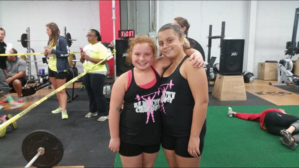 Savannah and Emma ~ Our very own Elm City CrossFit Kids