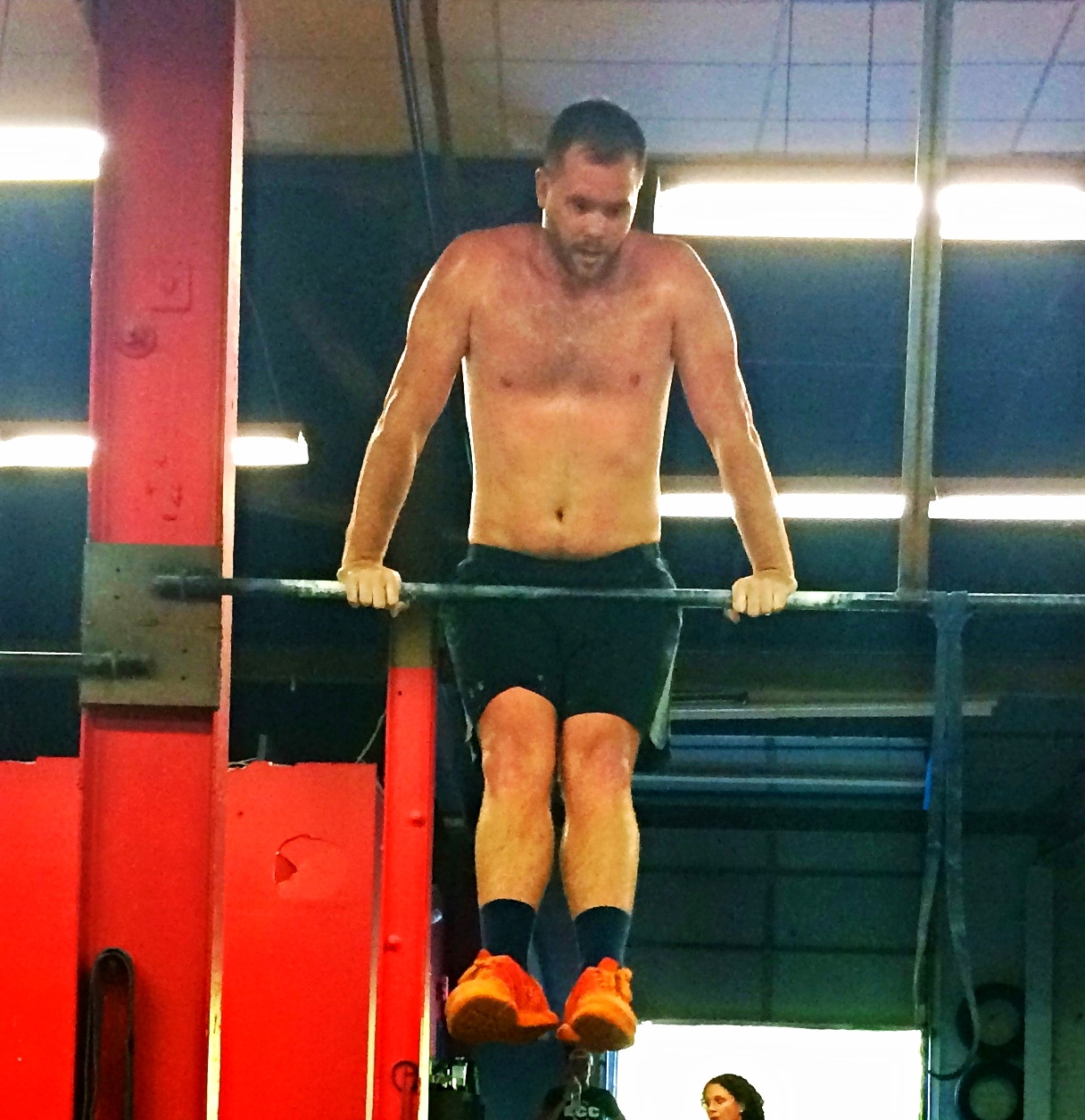 Will looking strong on Bar Muscle Ups!