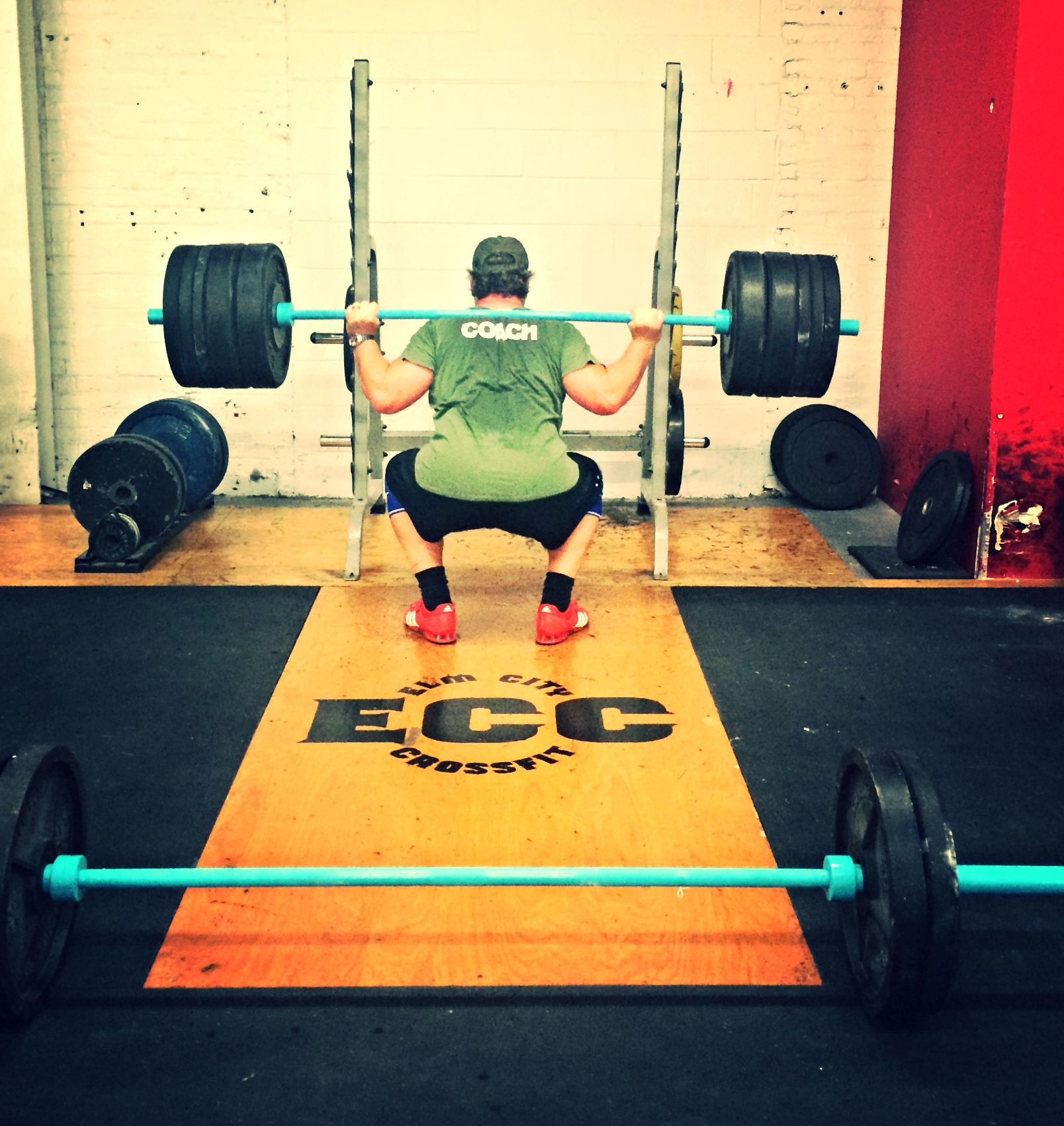 Coach Eric working on his Elm City Underground Strength