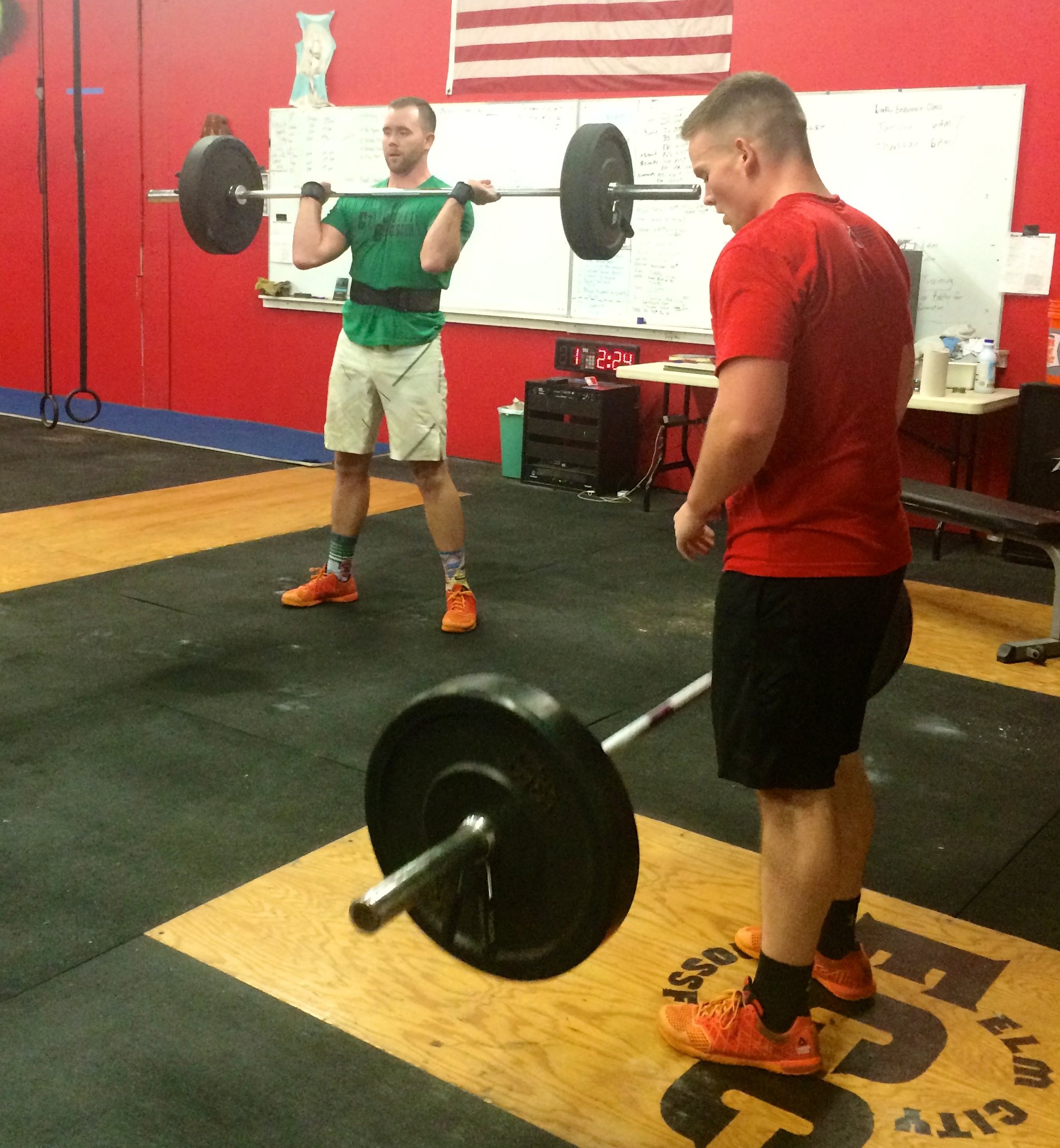 Zach 2 and Will making easy work of the cleans