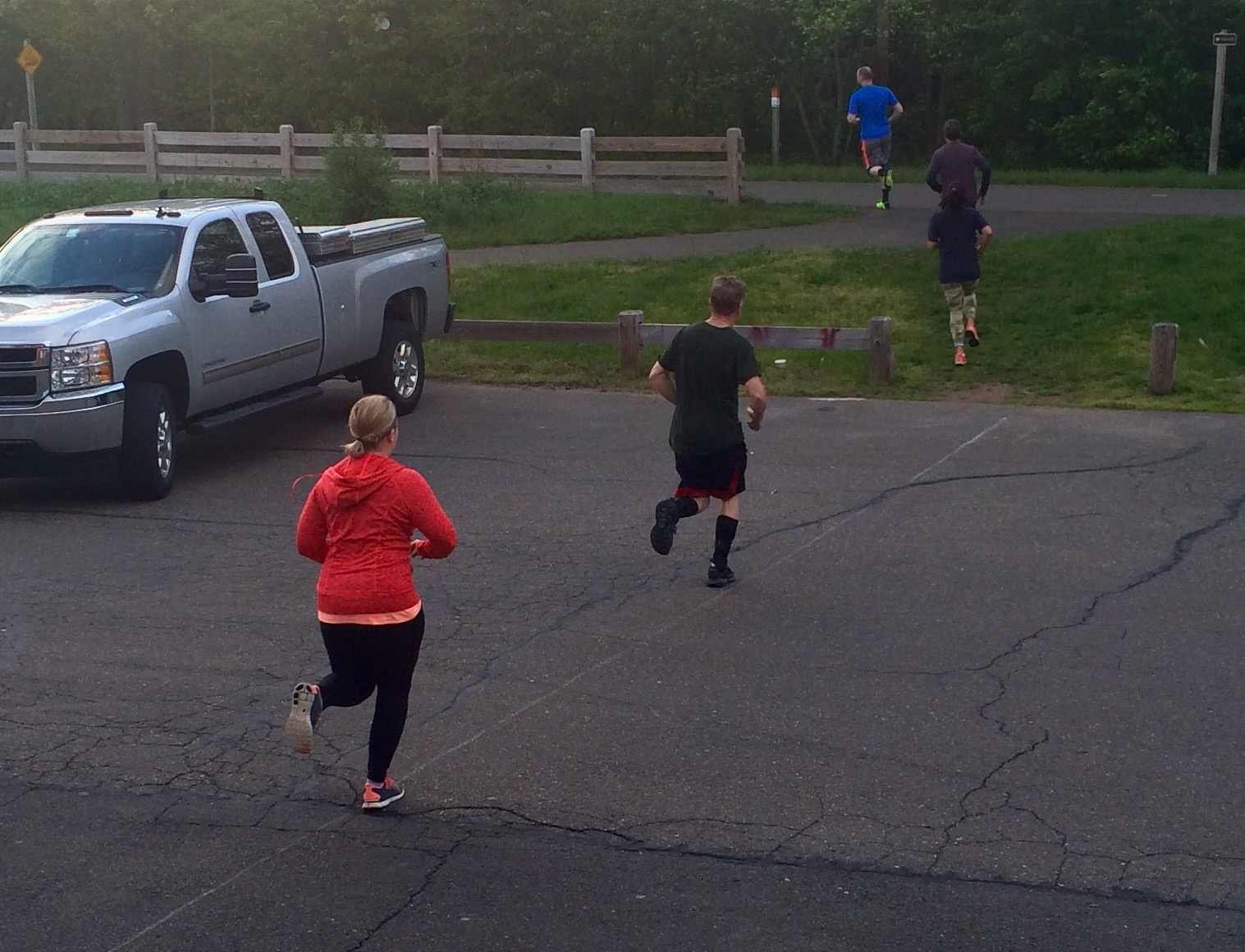 630 am class - setting a great pace for the run!