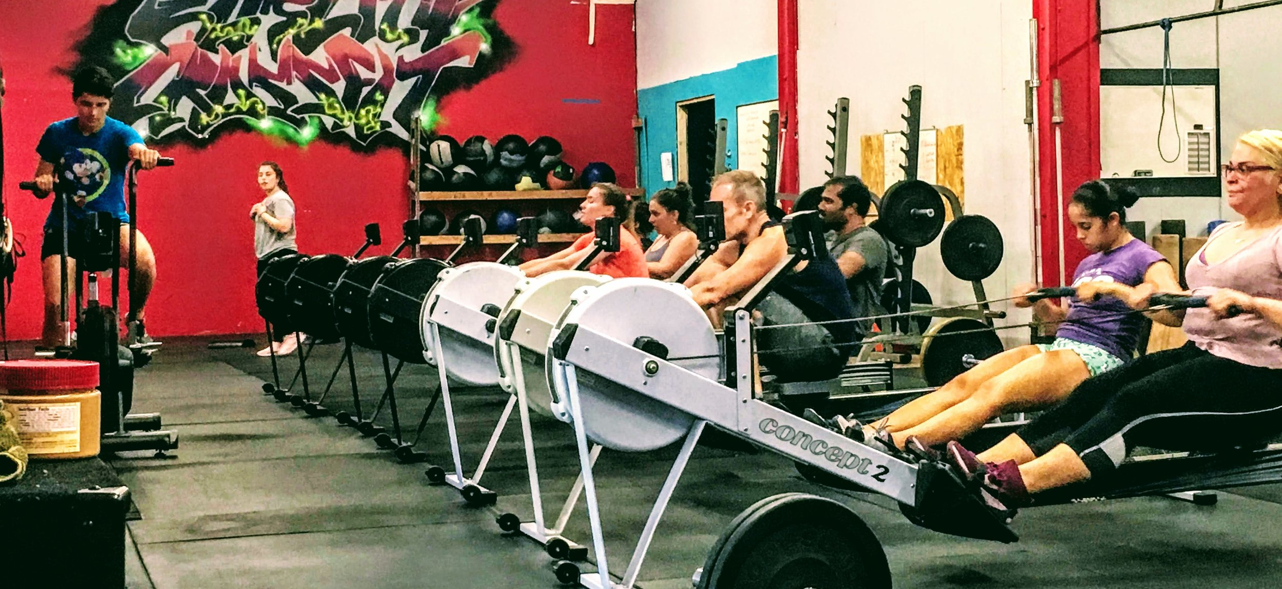5:30 crew getting after the 1000m row!