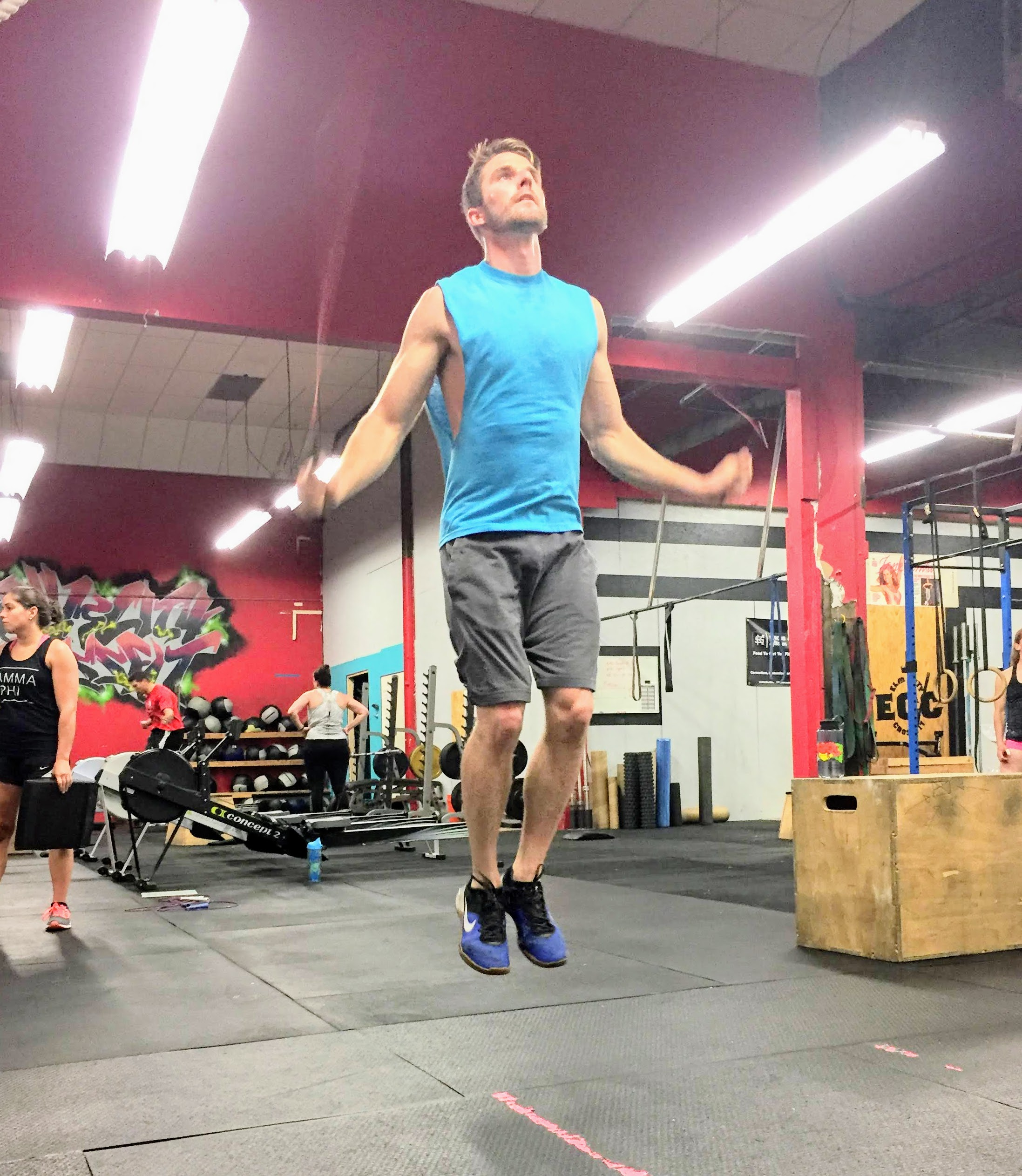 Greg gets some height on Thursday's double-unders!