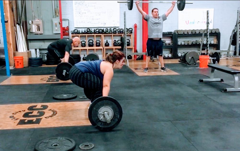 Consistency and focused practice gets results.  Congrats on your 70# snatch and thruster PRs this week, Marissa!