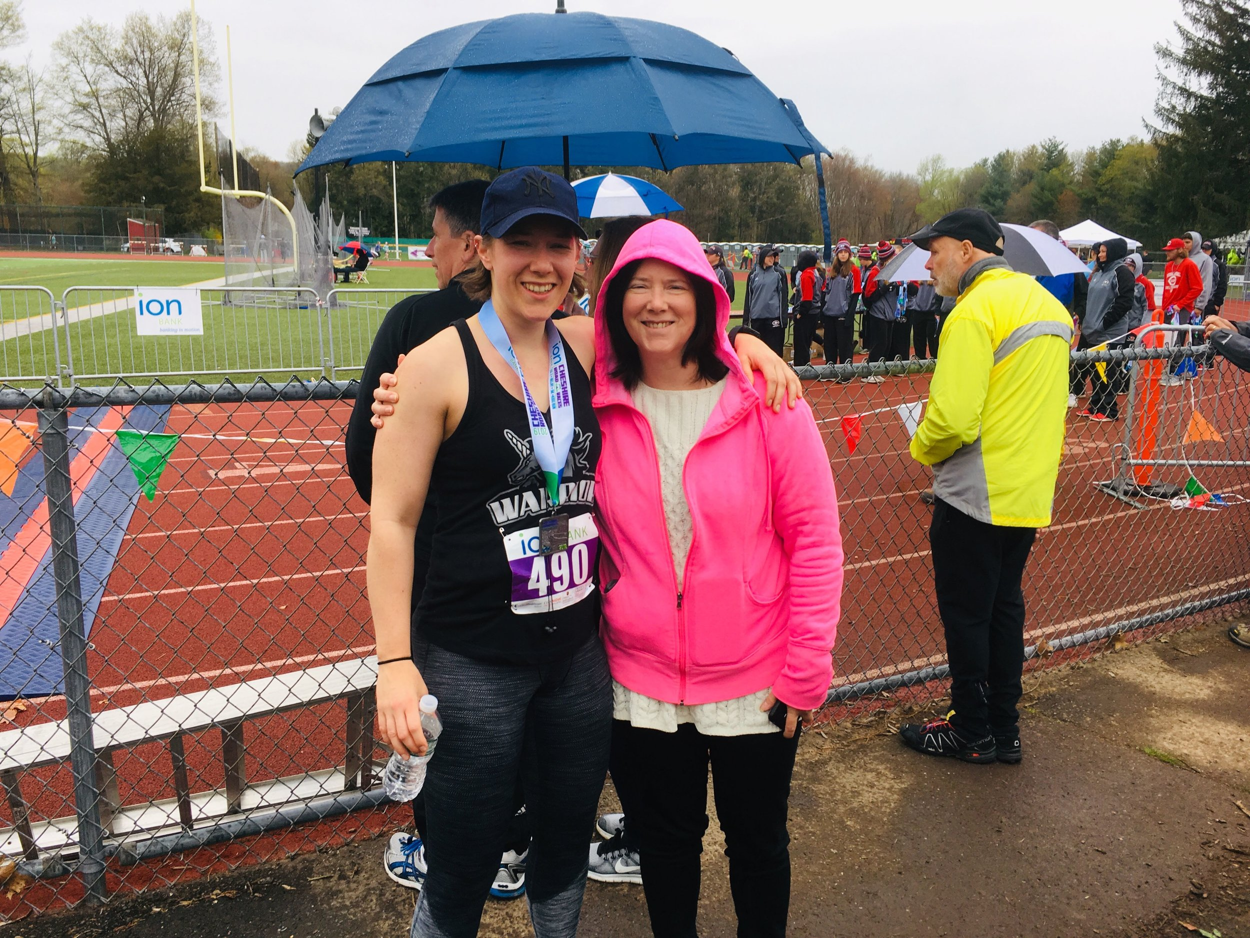Congratulations on finishing your first half marathon, Leslie!  It has been so inspiring to see your train hard and train smart… and to follow through on your commitment and goal!  Incredible work!