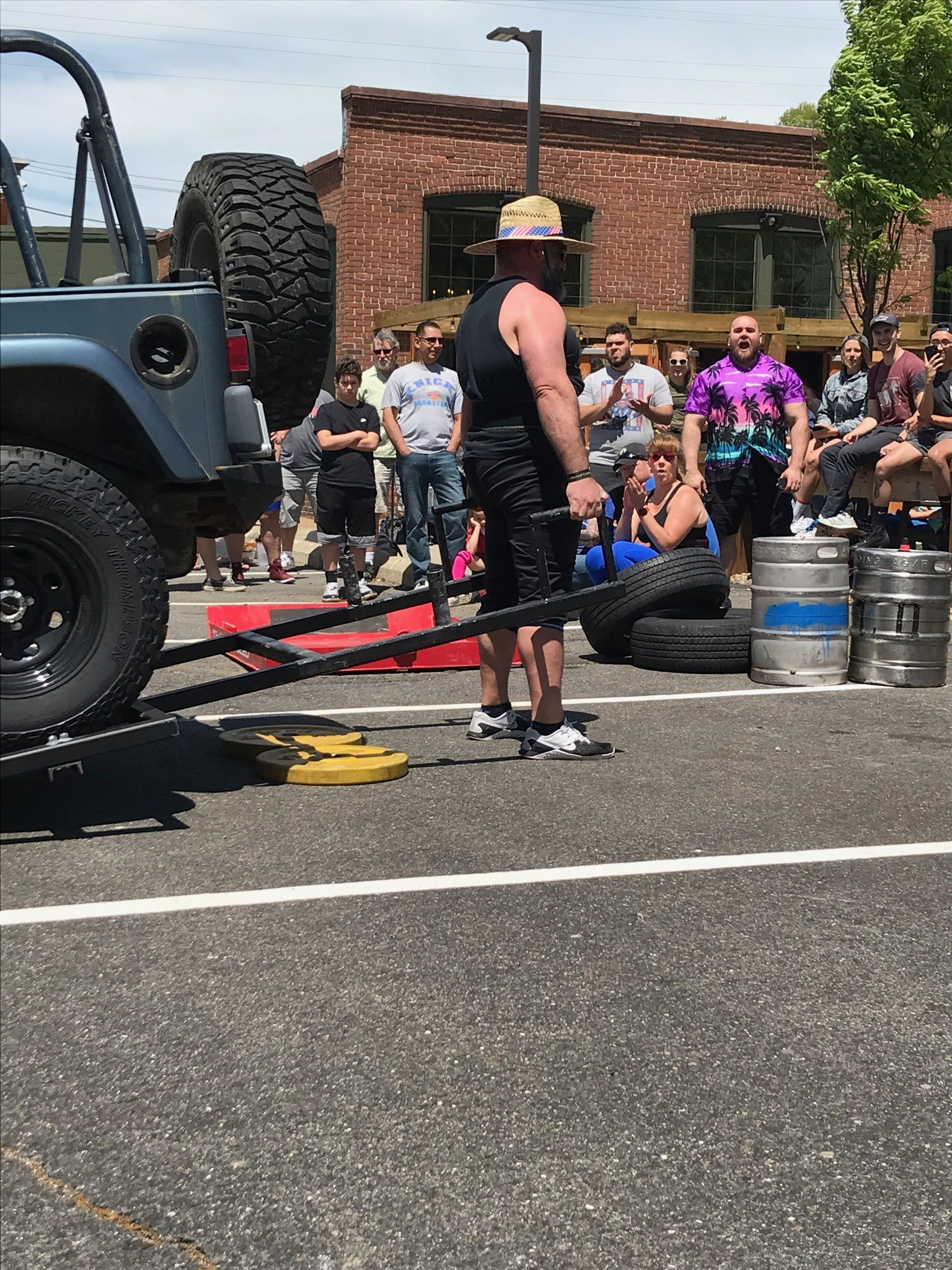 Sometimes you just have to lift a Jeep.  Check out ECC's debut Strongman Saturday at 9:00am!