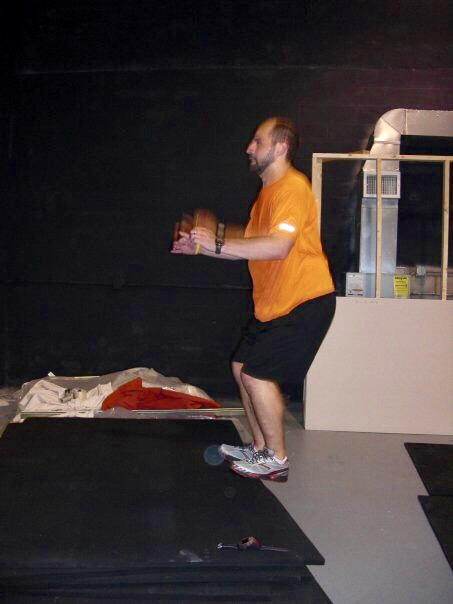 10 years ago! My buddy Adam practicing one of the first workouts at Elm City