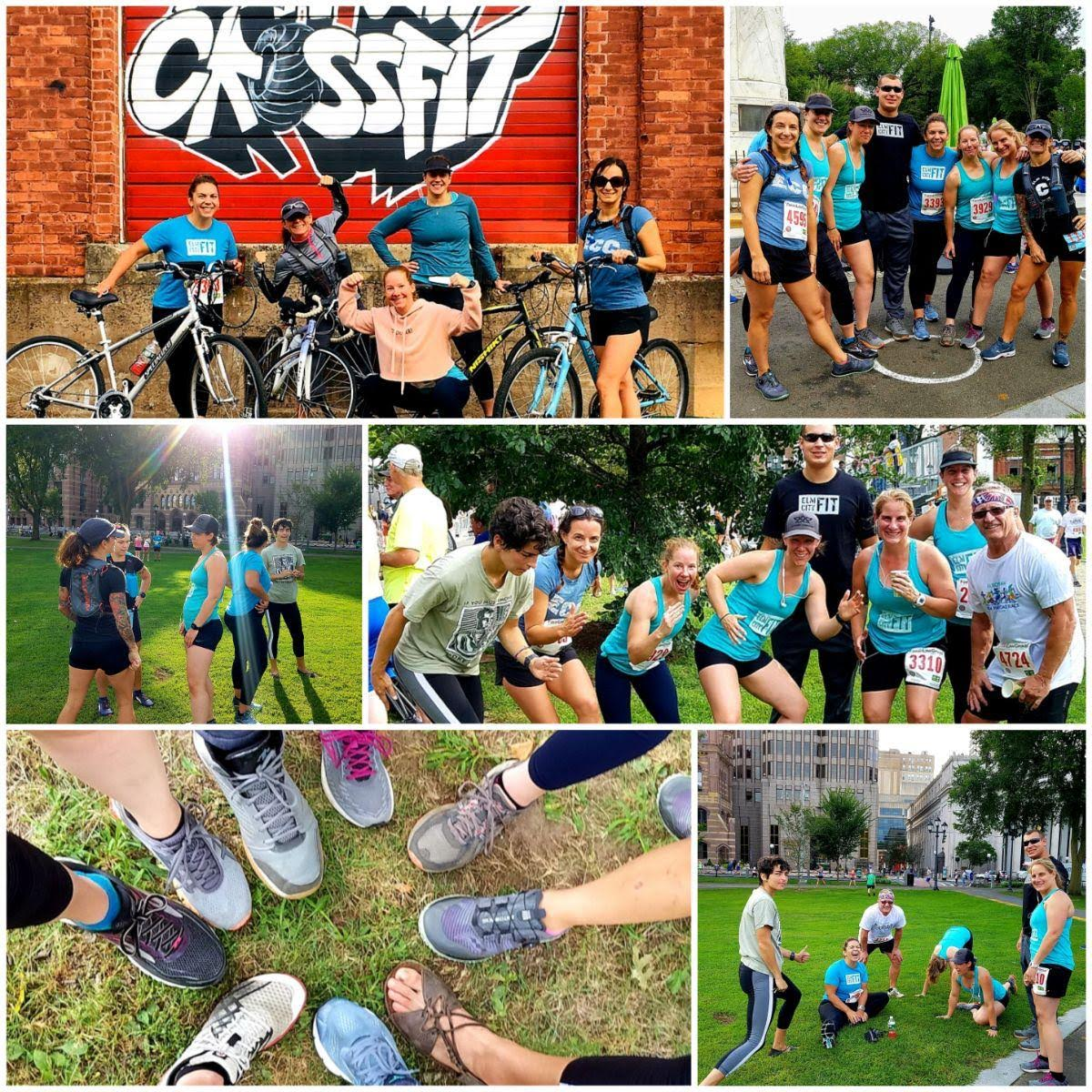 ECF representing at the New Haven Road Race this weekend!  Go team!  (Photo collage credit: Shirley)