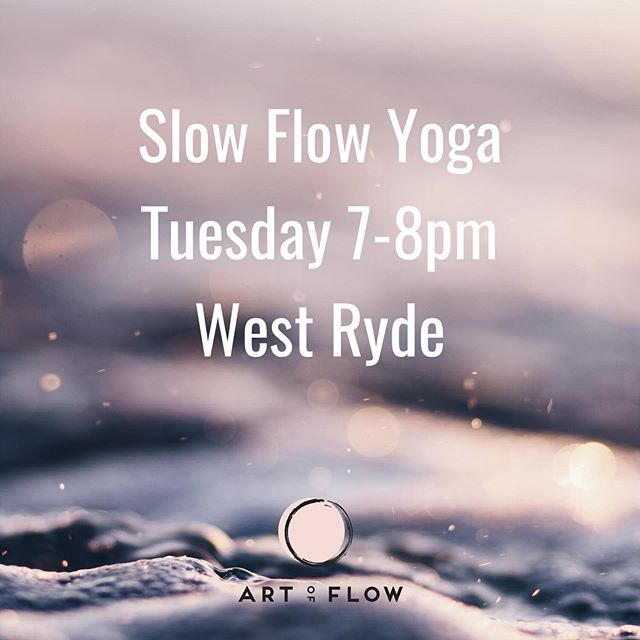 I'm teaching tonight at @artofflowyoga . Join us for a luscious Tuesday night slow flow tonight. 7pm at 71 Rydale Rd, West Ryde. Follow the link in profile to book in. artofflow.com.au