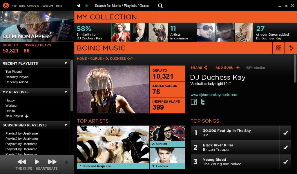 Desktop app final designs  Guru profile
