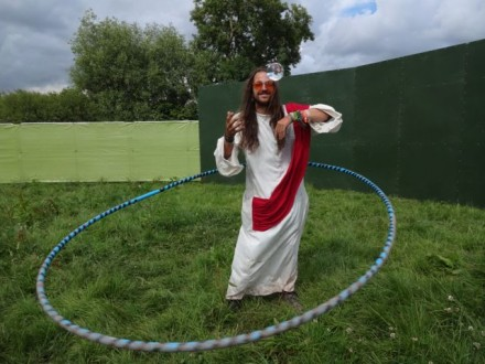 Jesus with a massive hula-hoop. As you do...