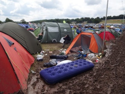 First class accommodation at Glastonbury 2014