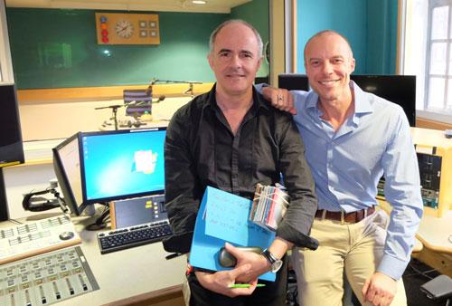 Producer Anthony Cherry with Presenter Gary Williams at BBC Radio 2