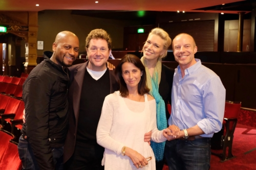 Rodney Earl Clark, Michael Ball, Emma Jacobs (David Jacob's daughter), Hannah Waddingham and Gary Williams