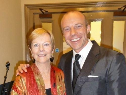 Singer Gary Williams with Ava Astaire McKenzie