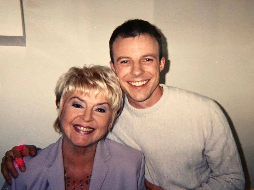 With Gloria Hunniford 20 years ago.