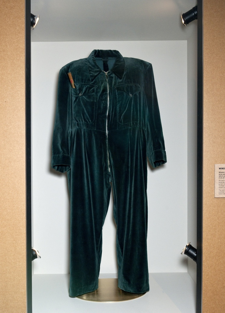 Churchill's velvet onesie, currently displayed in the Churchill museum.