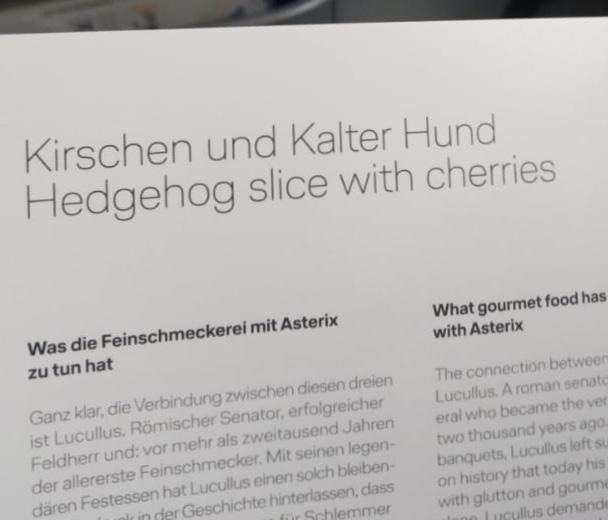 Hedgehog on the menu?