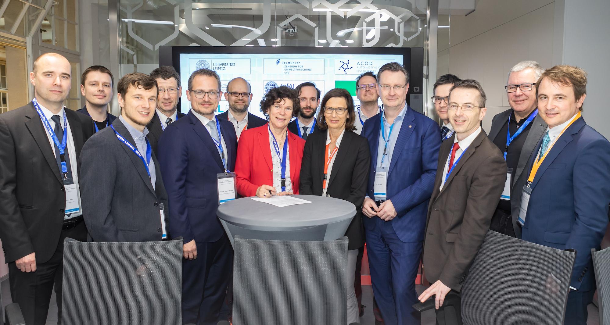 KI-Hubs Sachsen, Unterzeichner aus Wissenschaft und Forschung Bildquelle: InfAI