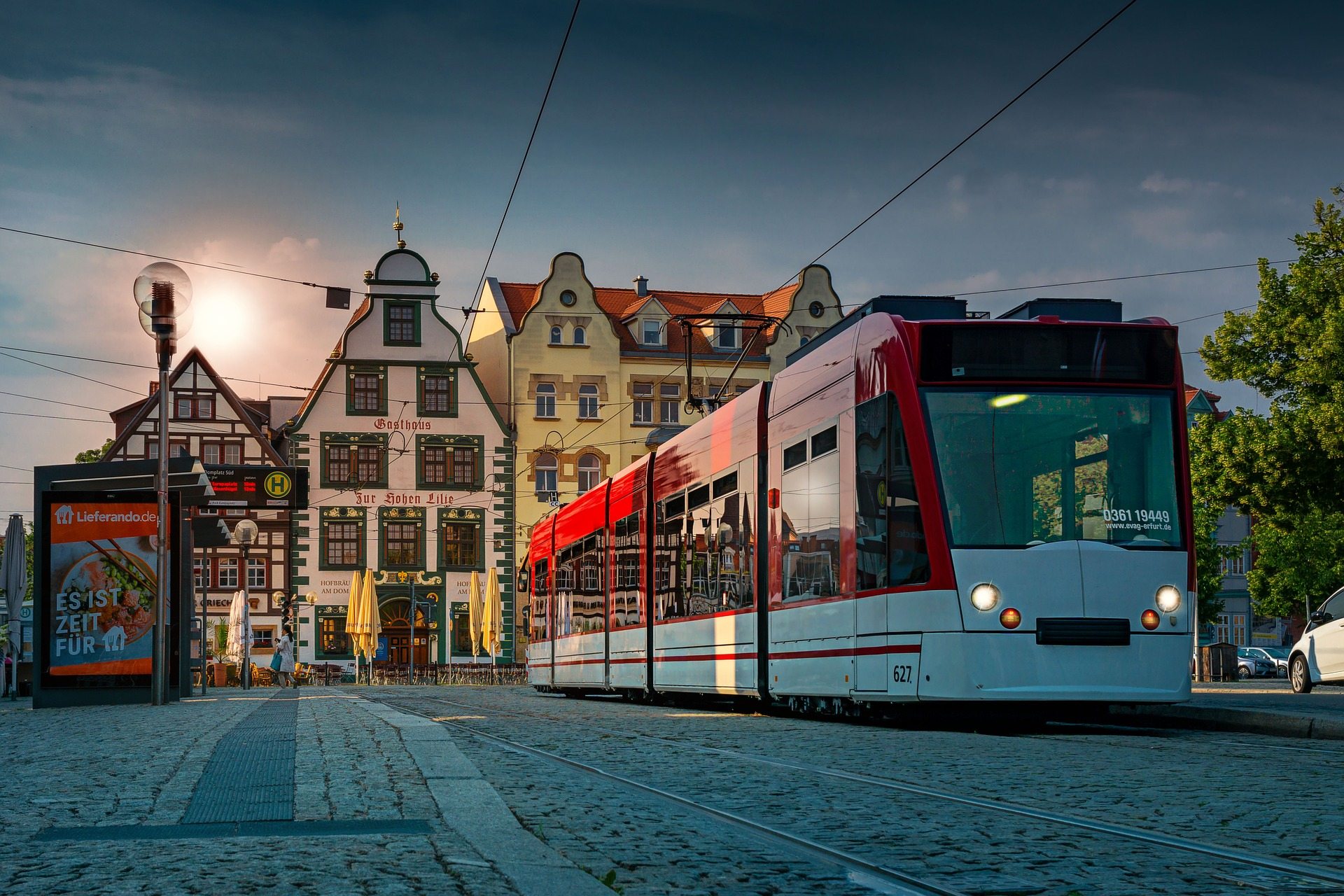 Haltestelle am Erfurter Domplatz
