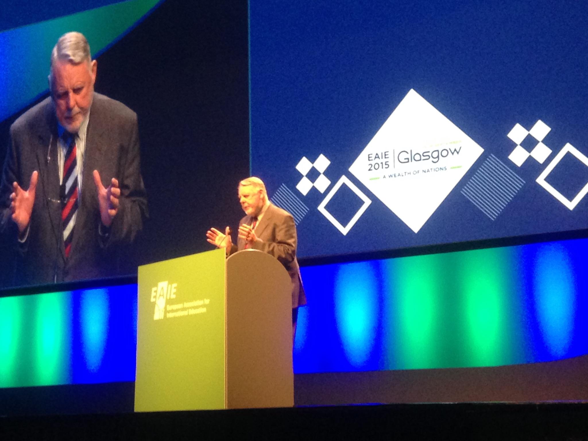 Final speaker, Terry Waite CBE, enthrals the delegates.