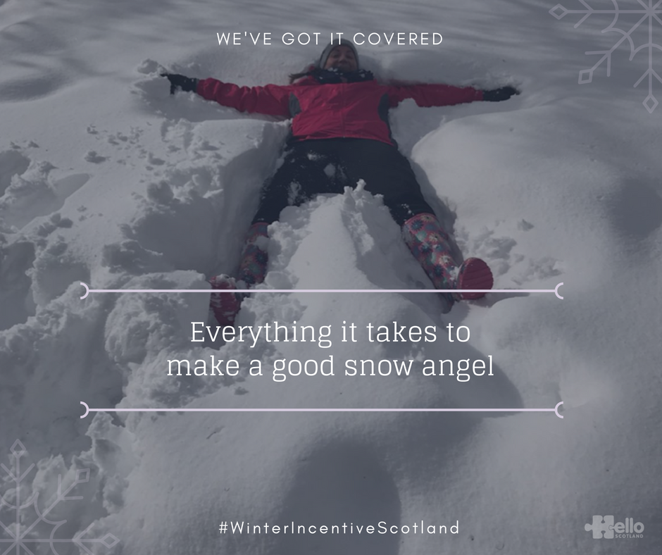 Winter Incentive Scotland - snow angel