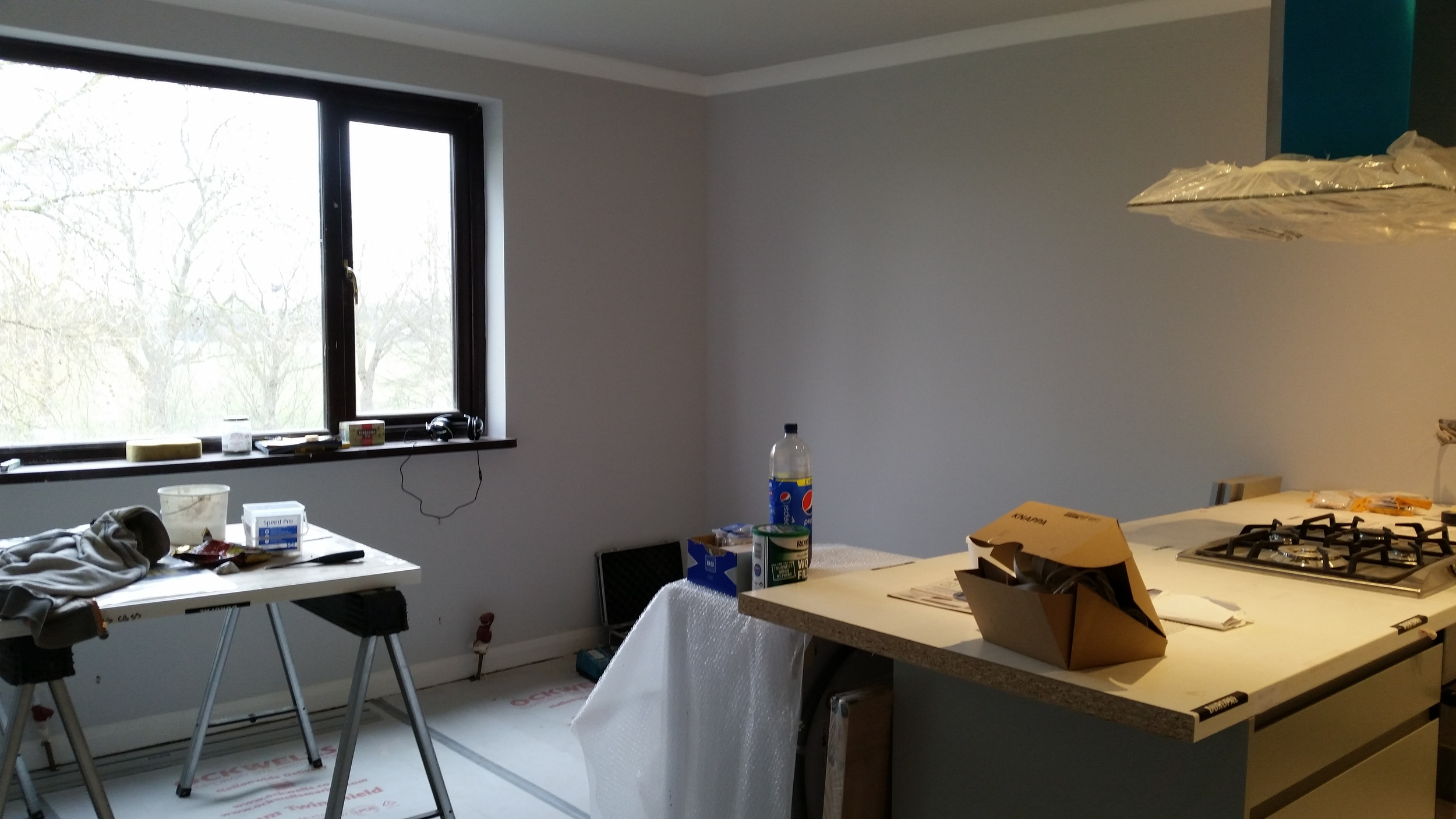 Walls painted